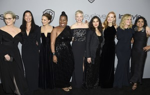 Activists accompany stars at the Golden Globes red carpet