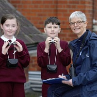 Children sample nature on doorstep in Birdwatch project