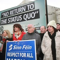 Wife of Martin McGuinness attends rally to mark one year since power sharing collapsed