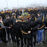 Emotional scenes as popular footballer and teacher Christopher Colhoun (33) laid to rest in Co Tyrone