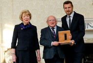 Liam Neeson honoured by Michael D Higgins for contribution to Ireland and humanity