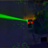 Watch: Man arrested after shining laser pointer at police helicopter