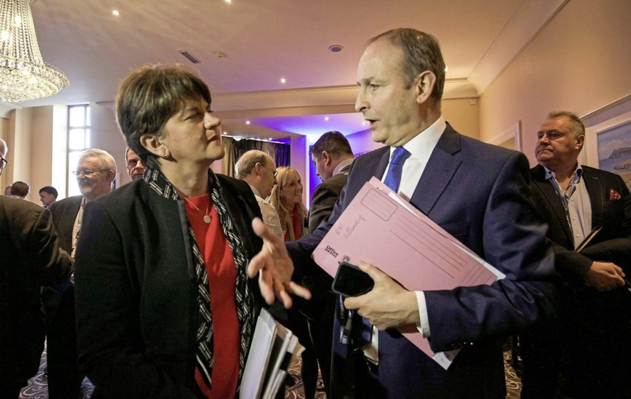 Arlene Foster held talks with Fianna Fáil leader Michael Martin at the inaugural Killarney Economic Conference in Co Kerry. Picture by Valerie O' Sullivan/PA ...