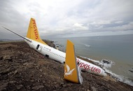 Plane left dangling off cliff near Turkish runway had 'surge of speed in one engine'