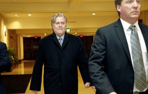 Ex-strategist Steve Bannon refuses questions about working for president Trump