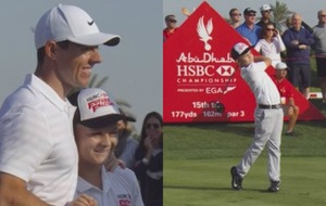 This 13-year-old got to play golf with Rory McIlroy and he absolutely nailed it