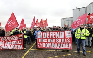 Bombardier workers 'won't be collateral damage in trade war' says union