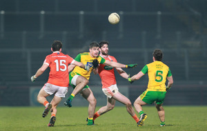 Nathan Mullins and Patrick McBrearty guide Donegal into Dr McKenna Cup final