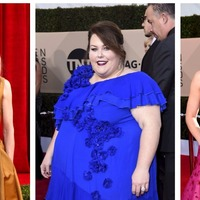 Stars embrace colour on SAGs red carpet after all-black Globes