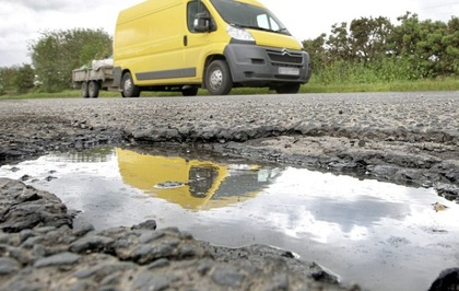 Potholes in Northern Ireland are officially getting deeper
