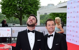 Ant and Dec reach television awards with seconds to spare after traffic woes