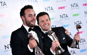 Ant and Dec triple-winners at television awards after 'tough year'