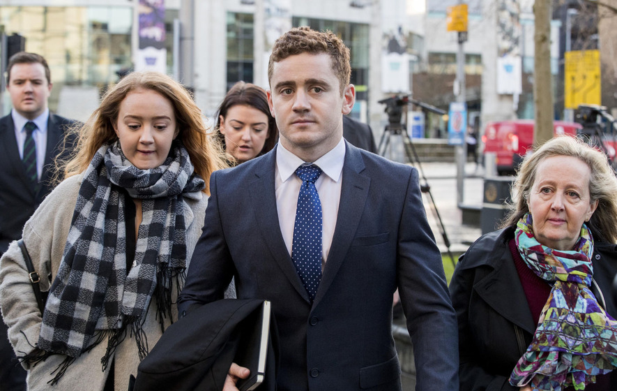 Woman breaks down telling court she was 'raped by rugby players'