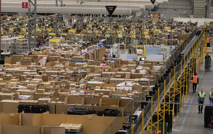 Amazon patented a wristband that tracks warehouse employee hand movements