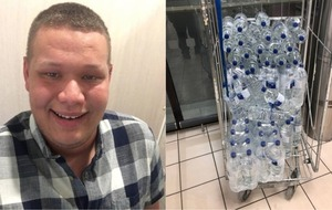 Patient's grandson buys 200 bottles of water to help ease hospital leak crisis