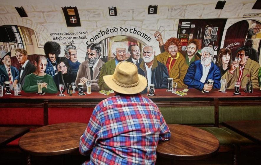 Mural Of Famous Irish Faces Drawing Visitors And Tourists