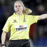 Joy Neville makes history as first female Pro14 referee