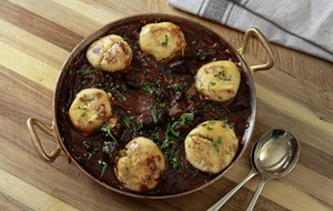 James Street South Cookery School: Beef and ale stew with dumplings, Coconut rice pudding