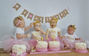 Twins have smashing first birthday party with Co Down baker mum's lookalike cakes