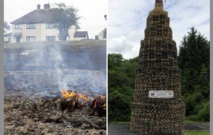 Loyalist bonfire builders 'deeply regret' damage to Dungannon homes