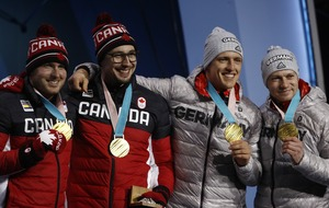 Everyone seemed to enjoy Canada and Germany's wholesome shared gold in the two-man bobsleigh