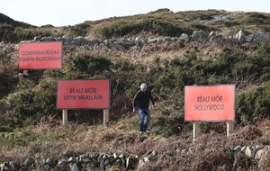 Three billboards outside Leitir Meallain, Connemara celebrate Martin McDonagh