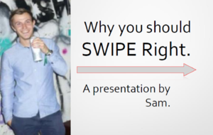 This student took his Tinder profile to the next level by turning it into a PowerPoint presentation