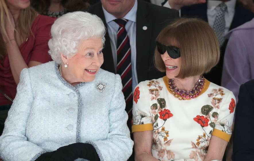 Britain's Queen makes surprise visit to London Fashion Week