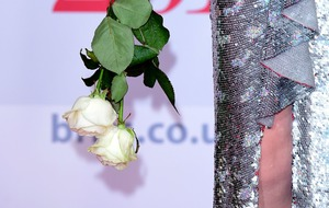 Stars carry white roses at Brit Awards in support of Time's Up movement