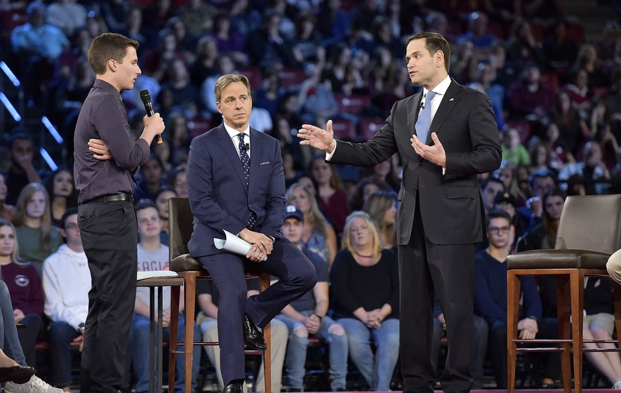 Stephen Colbert Lampoons Marco Rubio's Remarks At CNN Gun Violence Town Hall