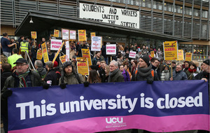 Students join university staff in strike action over pensions dispute