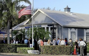 Mourners queue at Florida funeral home to pay their respects to Irish dancer (14) who was killed in school shooting