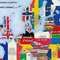 This Google autocomplete map of Europe is fascinatingly revealing