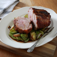 James Street South Cookery School: Slow cooked pork with leeks, Polenta and ricotta cake with berries