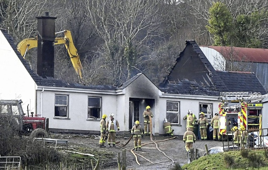Three people dead in house fire in Ireland