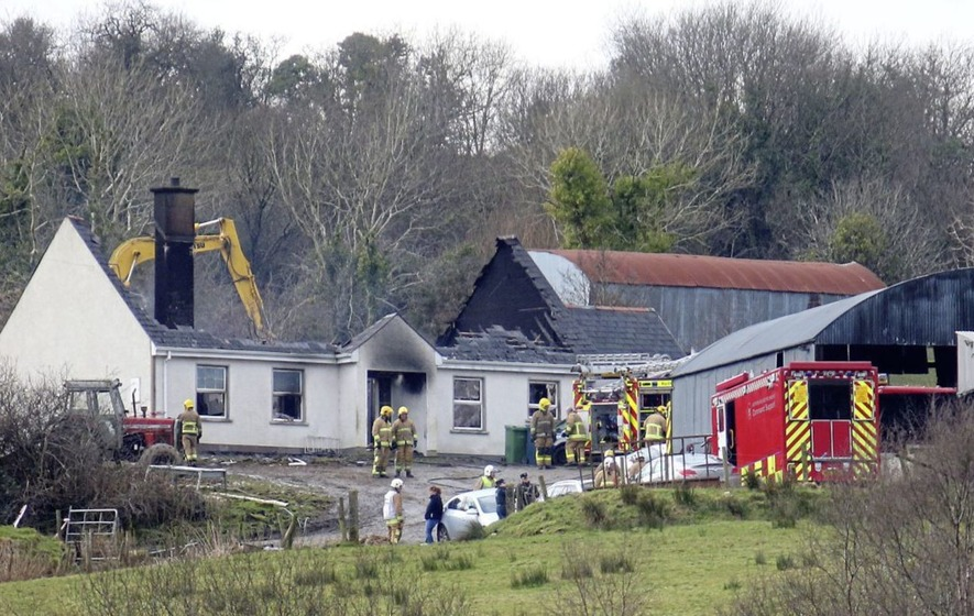 Child's body found at scene of Derrylin house fire