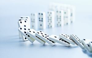 Debt domino effect on economy