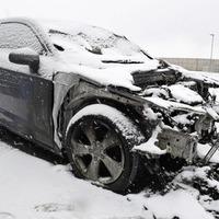 Car damaged in suspected arson attack in north Belfast