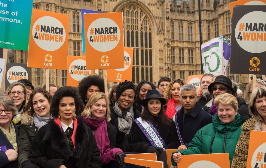 Image result for London People Protest Ensure Women Rights
