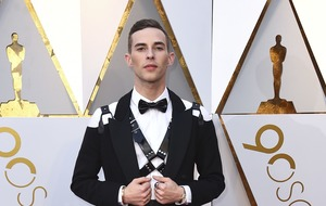 Figure skater Adam Rippon wears leather harness to the Oscars