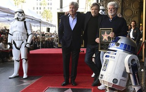 Harrison Ford remembers Carrie Fisher as Mark Hamill honoured on Walk of Fame