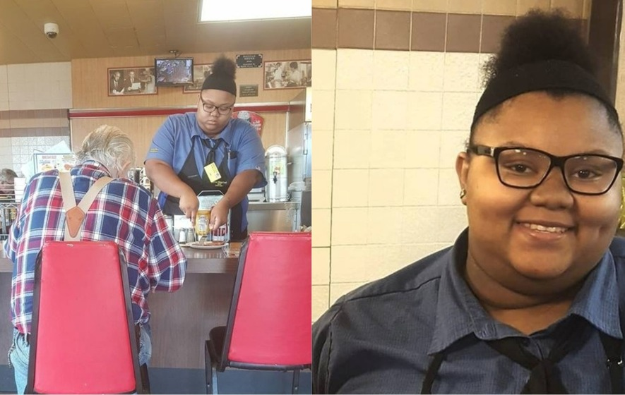 Waffle House Teen Helps Elderly Customer, Goes Viral