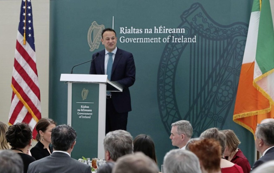 Leo Varadkar's received a lot of criticism for his White House speech