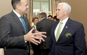 Leo Varadkar and Mike Pence hold private meeting after media barred