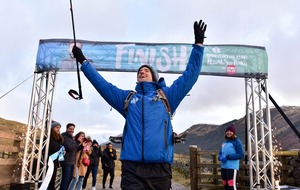 Triumphant Greg James finally completes mountain and cycle challenge