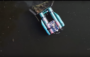 This robot turns collecting rubbish on waterways into a multiplayer online game