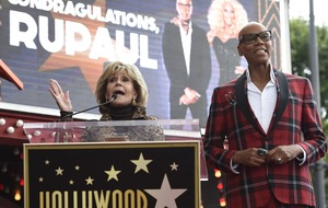 'Condragulations': RuPaul's Hollywood star celebrated