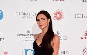 Victoria Beckham tries boxing during Sport Relief trip to Kenya