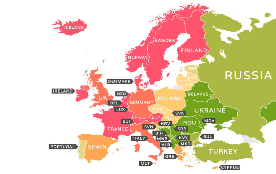Maps show the most expensive countries in the world to live in - The ...