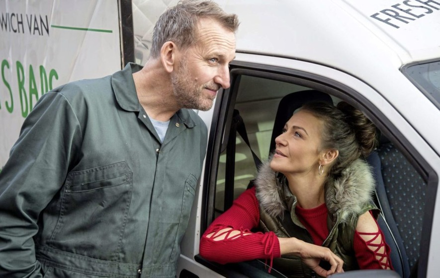 Christopher Eccleston and Kerri Quinn on Co Antrim-filmed